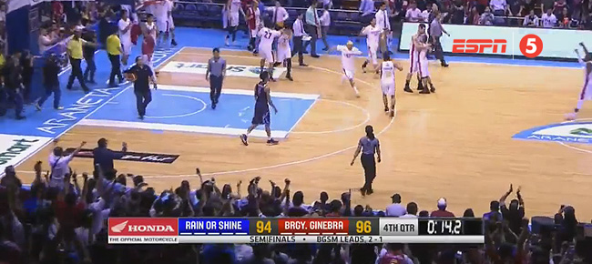 Ginebra eliminates Rain or Shine, 96-94 (REPLAY VIDEO) Semis Game 4 / July 23