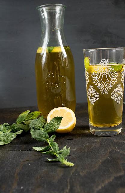 Rezept für Mate Zitroneneistee mit Minze