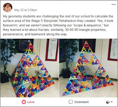 Surface area of a Sierpinski Tetrahedron