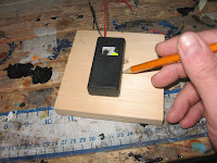 Marking the location for the battery box