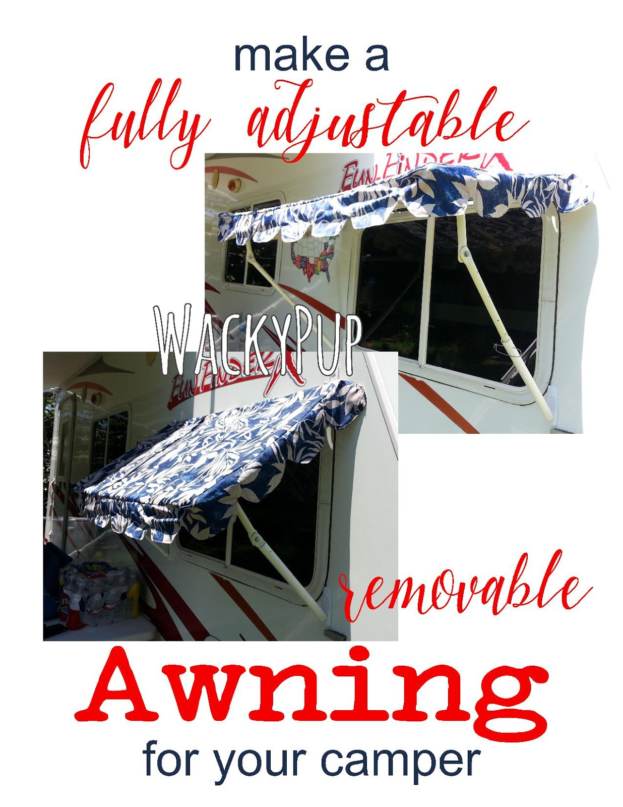 Wacky Pup: How to Make Easy DIY PVC Awnings for Your ...