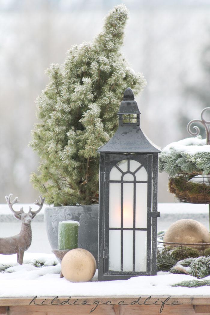 Outdoor Dekoration Weihnachten Frost Schnee