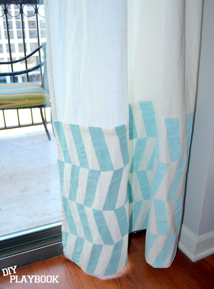 how to paint ikea curtains