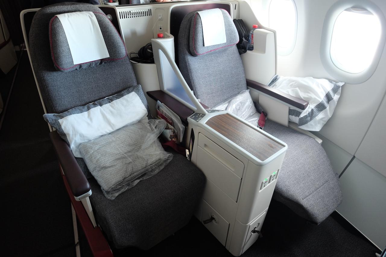 Qatar Airways A320 Business Class Seat