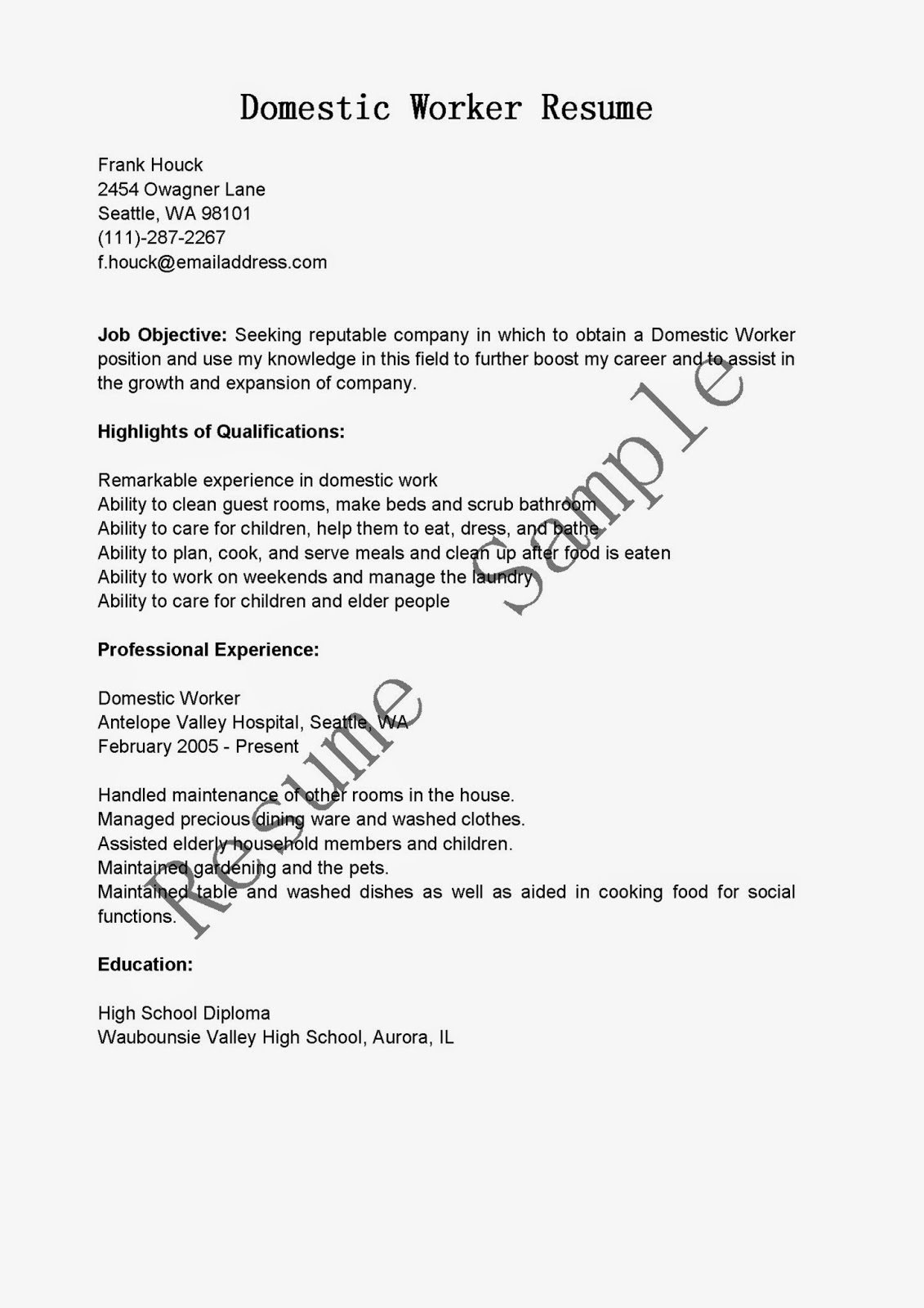 79 construction worker resume objective 100 sample resume