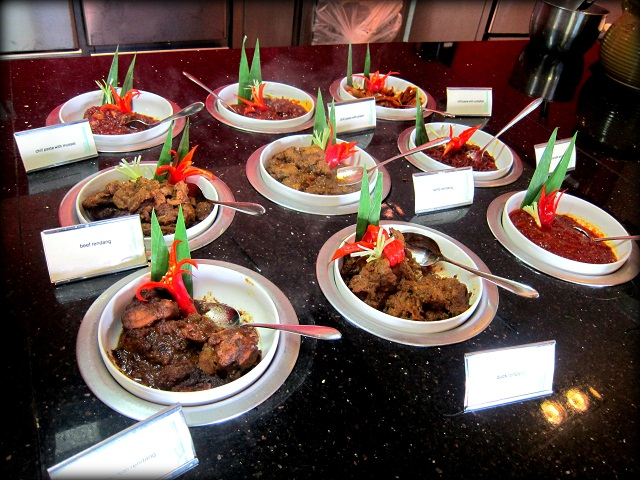 An assortment of curries and sambals for the diners of Cinnamon Coffee House