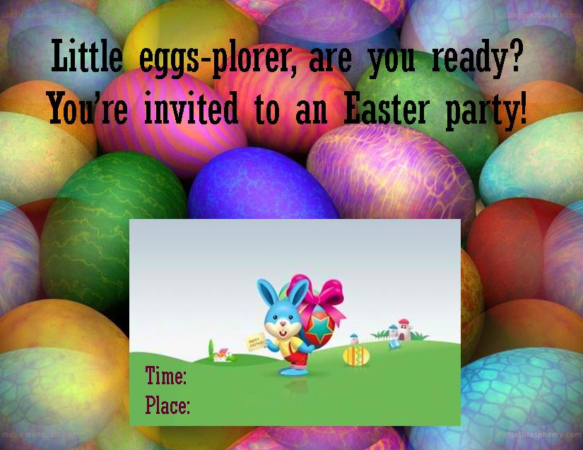 Easter Party Ideas and Downloadable Party Invites for Kids - easter invitations template