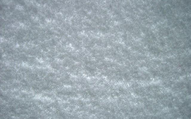 Dikke laag sneeuw op de autoruit