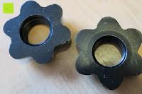 Verschluss: 1 Kurzhantel Hantelstange + 2 Hantelscheiben aus 100% Gusseisen / Sternverschluss / in 1,25kg 2,5kg 5kg oder 10kg / 30mm Bohrung / Mattschwarz / In unterschiedlichen Varianten