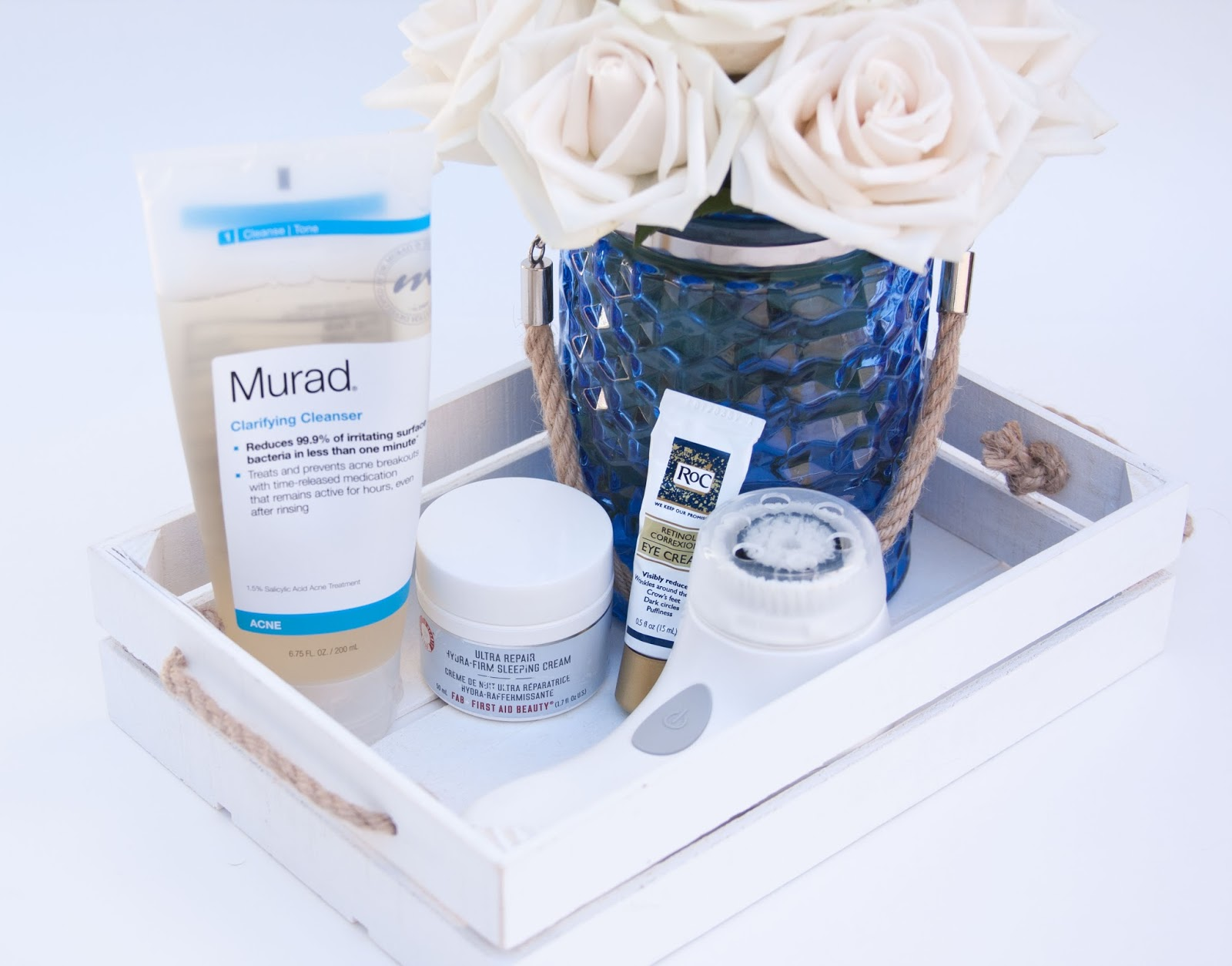 Three simple steps to clean, nourished skin before bed.