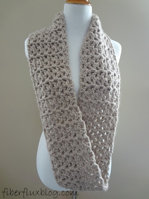 Fiber Flux Free Crochet PatternPavement Infinity Scarf Custom Crochet Infinity Scarf Pattern In The Round