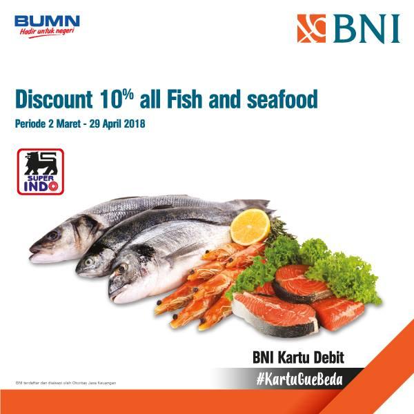 produk ikan dan seafood super segar dengan menggunakan Kartu Debit BNI