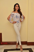 Actress Pragya Jaiswal Latest Pos in White Denim Jeans at Nakshatram Movie Teaser Launch  0056.JPG