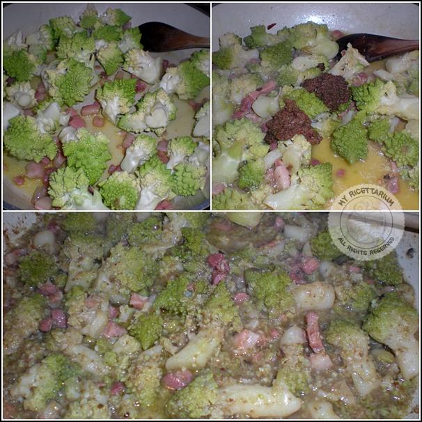 Penne con broccolo romano e crema di capperi ed olive