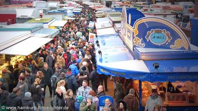 Sonntag Morgen auf dem Hamburger Fischmarkt
