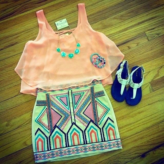 Shorts Top Coral Cute Summer Outfits