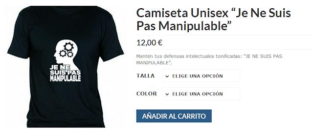 http://www.laputadadeldia.net/tienda/camiseta-unisex-je-ne-suis-pas-manipulable/