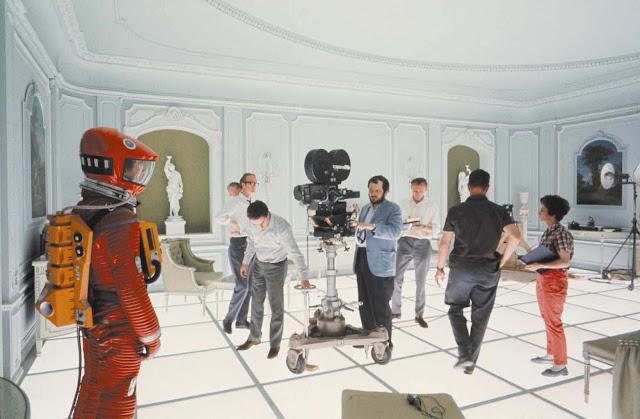 Stanley Kubrick sur le tournage de 2001, L'Odyssée de l'espace (1968)