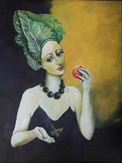 art, contemporary, modern, moderne, kunst, interior, maleri, paintings, colourful, farverig, sund, vegansk, vegetarian, sprout, vegan, go vegan, apple, butterfly, sommerfugl, galleri, gallery