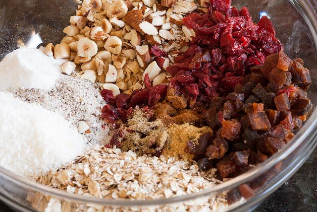 Sastojci za zdravi keks sa sušenim voćem
