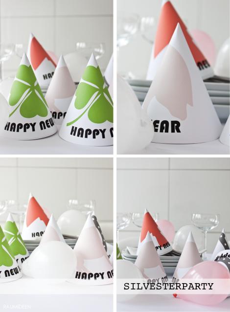 DIY - Partyhüte aus Papier selbstgemacht