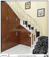 Lemari bawah tangga minimalis osaka
