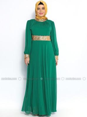Model Gamis Muslim Syar'i Sifon Modern Terbaru