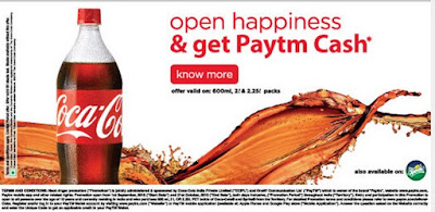 Firstly Goto Your Any Nearest Store and Buy Coke or Sprite Pack Worth 600ML to Get Rs 10 Paytm Cash or Worth 2Lt, 2.25Lt Pack to Get Rs 20 Paytm Cash Free. After Buying it Find Your Paytm Cash Code  Now Goto Paytm Coke Offer Page   After that Enter Your Cash Code and Select Your bottle size of Coke or Sprite. Submit  After Submitting  You Will be received Rs 10 Paytm Cash if You Will Have 600Ml Sprite or Coke Pack or Rs 20 Paytm Cash if you Will have 2Lt or 2.25Lt Pack Now you can use Paytm Cash for Mobile Recharge, Bill Payments & Shopping.