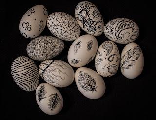 Ręcznie malowane gęsie jaja
