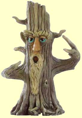 Sculpture of a Tolkienesque ent, a tree-form humanoid
