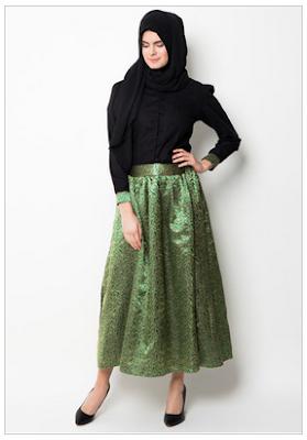 Desain Kemeja Wanita Lengan Panjang Muslim Modern