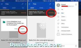 menyimpan file di aplikasi OneDrive