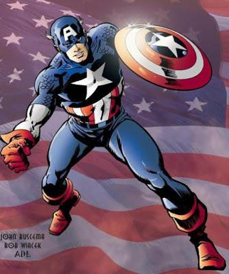 Imagen del Capitán América listo para la acción a colores