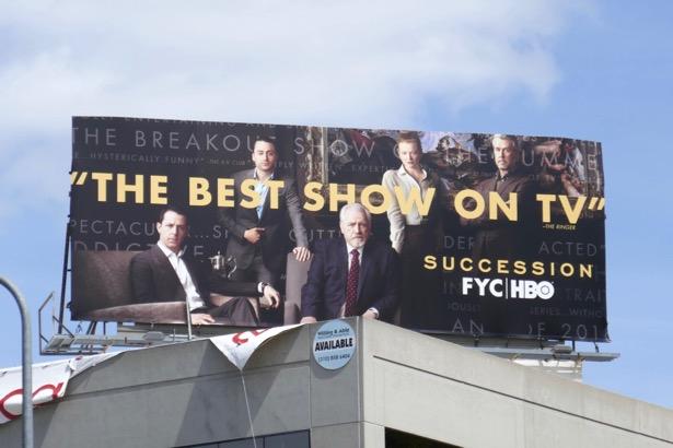 Succession season 1 Emmy FYC billboard