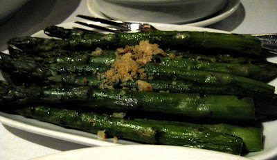 Grilled Asparagus at Quality Meats in New York, NY - Photo by Michelle Judd of Taste As You Go