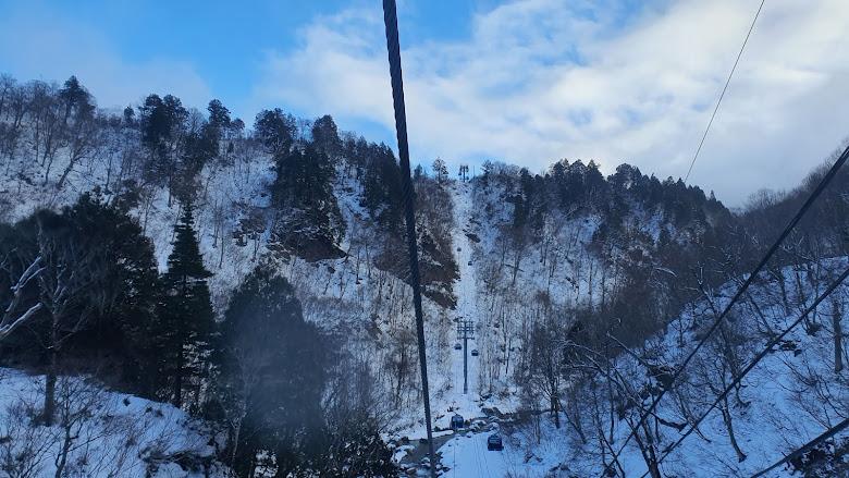 前往田代雪場的纜車景色