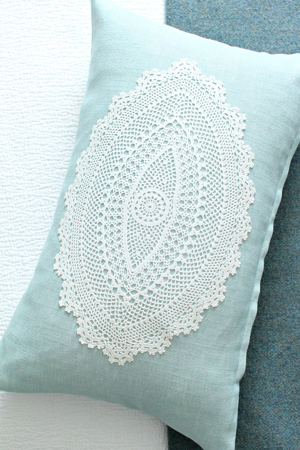 How to Sew a Doily onto Fabric