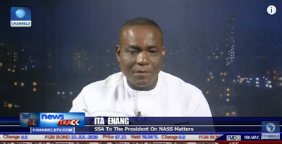 """Controversy continues to trail who will assent to the 2017 budget as the Senior Special Assistant to President Buhari on National Assembly matters, Ita Enang, yesterday said President Buhari will be the one to assent it.   Speaking in an interview with Channels TV last night, Enang said the presidency received the budget late yesterday afternoon and that when it is finally looked into, it would be transmitted to President Buhari who will sign it and then transfer it to acting President Yemi Osinbajo for other formalities to take place  """"The 2017 budget will be transmitted to Mr president and the President will assent to the budget. The acting President is in office and when the budget is transmitted, it will go through the processes and all those other questions will answer itself""""he said  President Buhari left for the UK on May 7th and transmitted power to his deputy, Yemi Osinbajo in a letter to the National Assembly, It is however not clear when he is expected back to the country."""