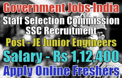 SSC Recruitment 2019 for JE