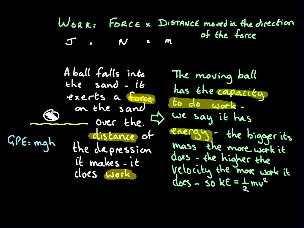 Gcse Physics Work And Energy Revision