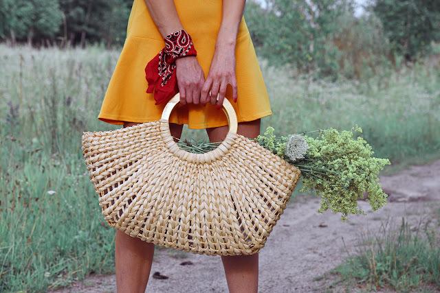 Круглая соломенная сумка, круглая сумка