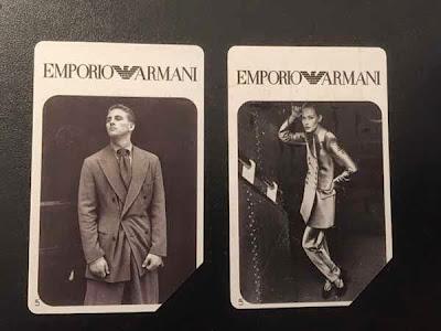 Le carte (o schede) telefoniche di Emporio Armani