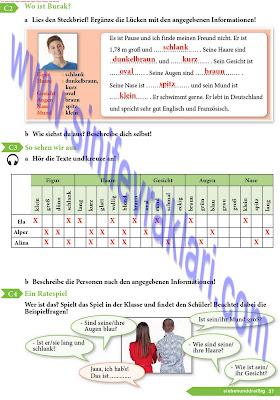 9. Sınıf Almanca A1.1 Ders Kitabı Cevapları Sayfa 37