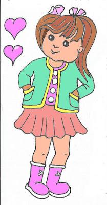 laleczka dręcznie malowana dziewczynka