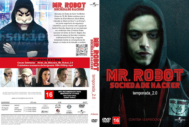 Capa DVD Mr. Robot Sociedade Hacker Segunda Temporada [Custom]