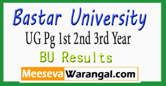 Bastar University UG PG Exam 1st 2nd 3rd Year Results 2018