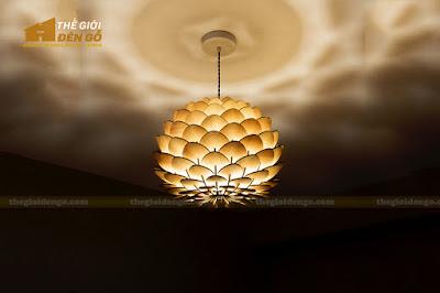 Thế Giới Đèn Gỗ - Đèn gỗ trang trí hoa cúc bất tử