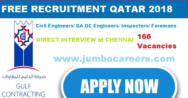 FREE Recruitment 2018 Qatar for Engineers?