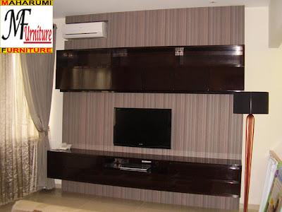furniture Backdrop Rak TV Credenza Panel Dinding - Jasa Pembuatan Setting Interior Furniture