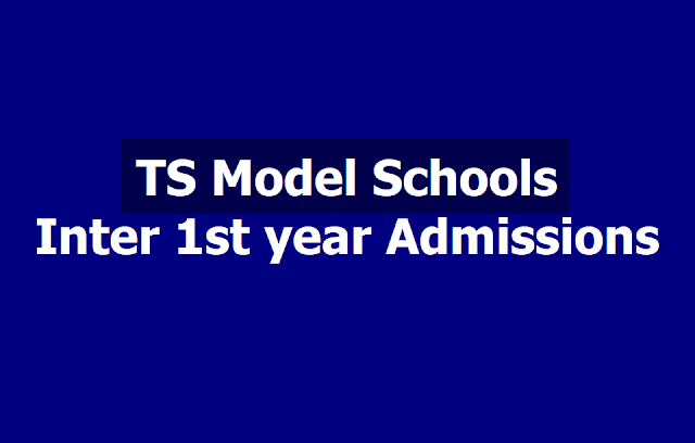 TS Model Schools Inter 1st year admissions 2019 Apply online, Selection list Results